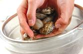 アサリと卵の丼の作り方1