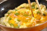 アスパラとハムの卵焼きの作り方4