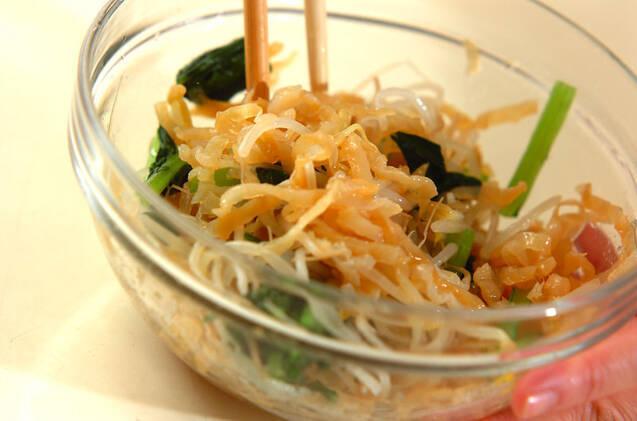 塩クラゲとモヤシの酢の物の作り方の手順6