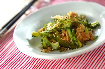 ゴーヤとツナの麺つゆ炒め