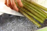 フキの豚肉巻き炒め煮の作り方3