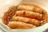 フキの豚肉巻き炒め煮の作り方7