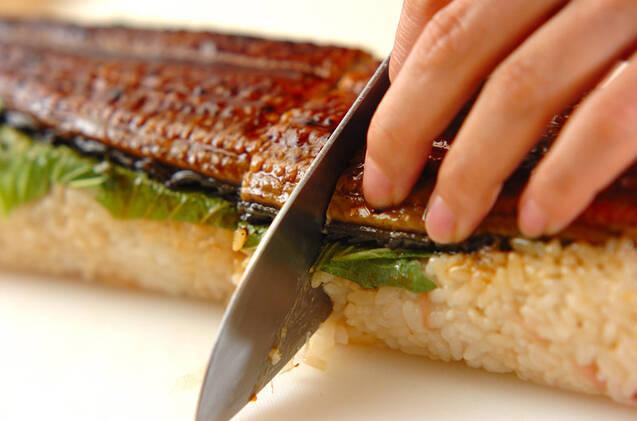 ウナギの棒寿司の作り方の手順6