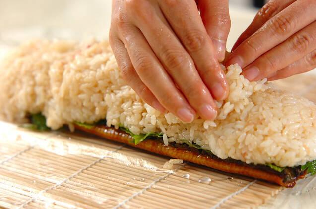 ウナギの棒寿司の作り方の手順5