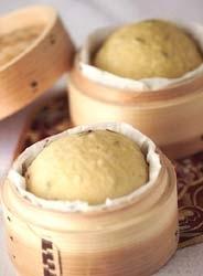龍井茶の蒸しパン