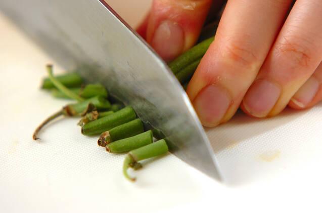 サヤインゲンのマリネの作り方の手順1
