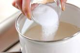 豆乳プリン・フレッシュイチゴソースの作り方1