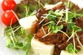 豆腐の照り牛肉のっけ
