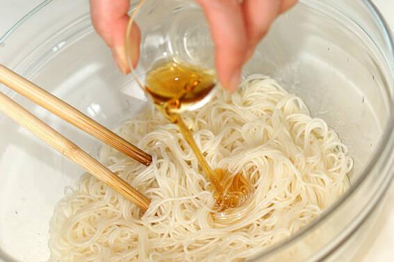 高菜ネギ素麺の作り方の手順2