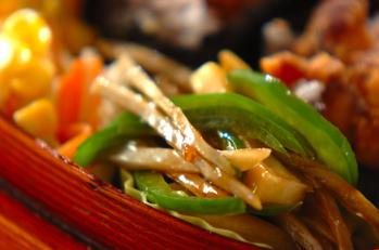 ピーマンと高野豆腐の中華炒め