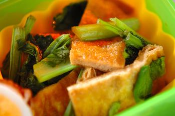 油揚げと小松菜の簡単煮物