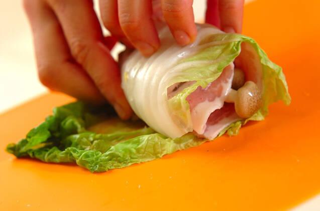 白菜の豚バラロールの作り方の手順3