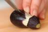 小ナスの揚げ浸しの作り方の手順2