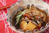 水菜と油揚げの煮物