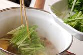 水菜と油揚げの煮物の作り方2