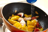 タコとパプリカのペペロンチーノの作り方3