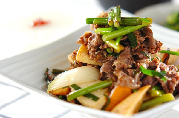 2.牛肉の中華炒め