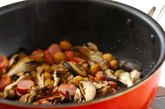冷凍で作り置き キノコと豆のキッシュの作り方1