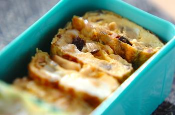 干しシイタケの中華風卵焼き