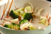 ブロッコリーの塩炒めの作り方5