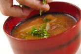 ゴボウとソーセージのみそ汁の作り方2
