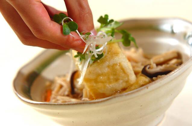 キノコあんかけ揚げ出し豆腐の作り方の手順11