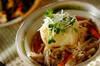 キノコあんかけ揚げ出し豆腐の作り方の手順