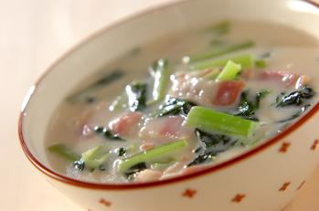 小松菜のクリーム煮