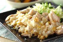 ゆで鶏・手作りゴマダレ