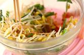 レンジ豆モヤシナムルの作り方2