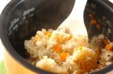 季節の菊花炊き込みおこわの作り方2