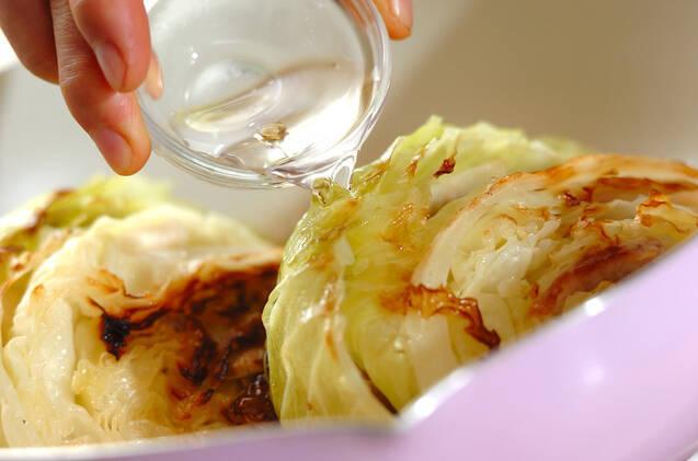 キャベツとゆで豚の塩煮の作り方の手順5