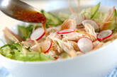 レンジで鶏サラダの作り方7
