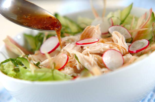 レンジで鶏サラダの作り方の手順7