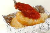 ハッシュドポテトのトマトチーズ焼きの作り方1