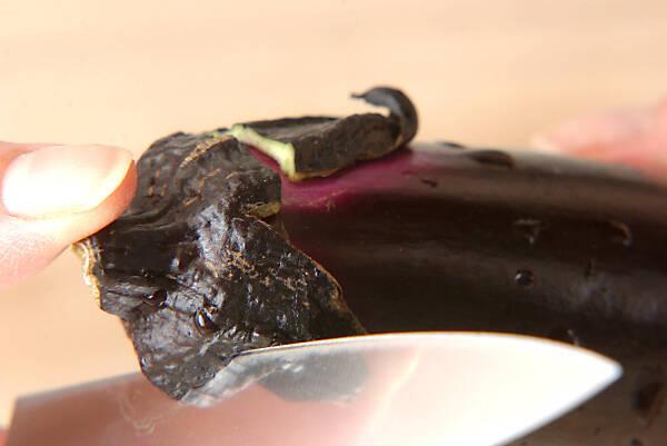 ナスとカボチャの揚げづけの作り方の手順1