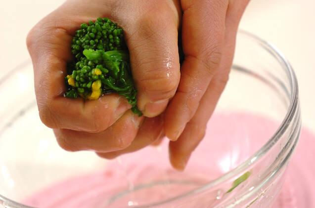 菜の花のお浸しの作り方の手順3