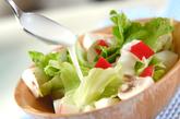 簡単サラダの作り方1