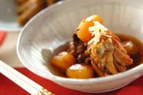 鶏肉と栗の甘辛煮