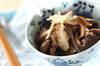 キノコとゴボウ、牛肉のしぐれ煮の作り方の手順