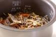 ゼンマイご飯の作り方3