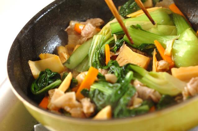 豚肉とチンゲンサイの中華炒めの作り方の手順8