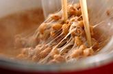 納豆ナメコ汁の作り方1
