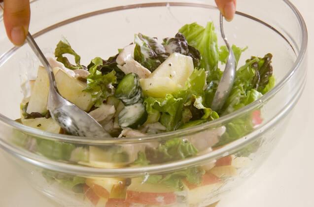 鶏ささ身のサラダの作り方の手順3