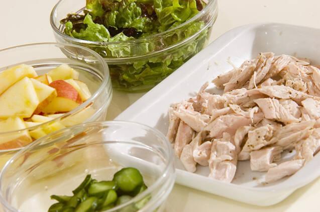 鶏ささ身のサラダの作り方の手順2