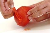 トマトのおろしショウガ和えの下準備1