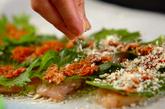 梅肉と大葉のささ身パン粉焼きの作り方2