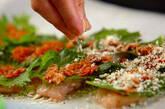 梅肉と大葉のささ身パン粉焼きの作り方7