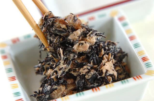 ヒジキの煮物とツナのマヨネーズ和えの作り方の手順3