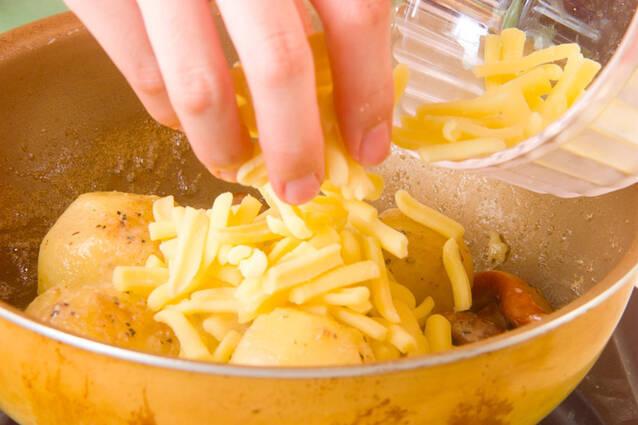 ポテトのチーズ炒めの作り方の手順3